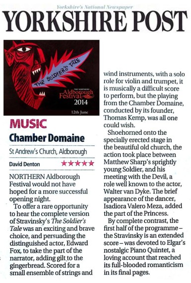 The Soldier's Tale review Yorkshire Post